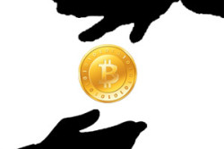 bitcoin-hand-drop